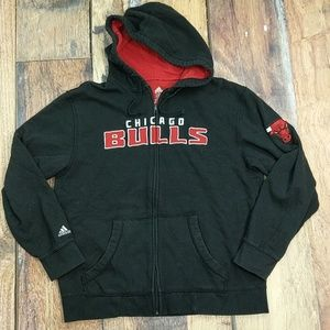 Chicago Bulls Zip-up Hoodie by Adidas Size Large